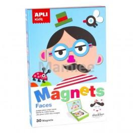 Obličeje z magnetů (náhled)