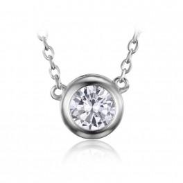 Stříbrný náhrdelník se zirkonem (náhled)
