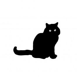 Kočka samolepka na zeď (náhled)