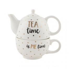 Čajová konvička s hrnečkem Tea time (náhled)