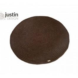 Háčkovaný koberec- kulatý a kávový (náhled)