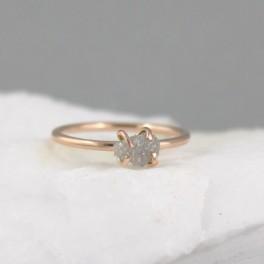 Prsten se surovým diamantem (náhled)