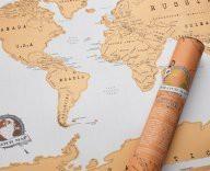 Stírací mapa světa (náhled)
