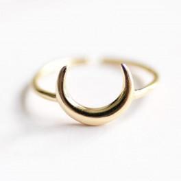 Pozlacený prsten Half Moon (náhled)