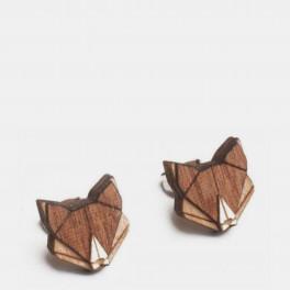 Dřevěné náušnice Fox Earrings BeWooden (náhled)