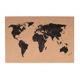 Korková mapa světa (náhled)