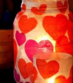 DIY lampa pro Valentýnský večer (náhled)