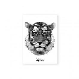Tygr na pohlednici (náhled)