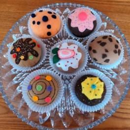 Plstěné muffiny (náhled)