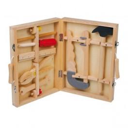 Dřevěný kufřík s nářadím (náhled)