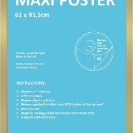 Zlatý rám pro plakát (náhled)