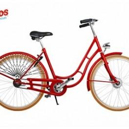 Červené retro kolo (náhled)