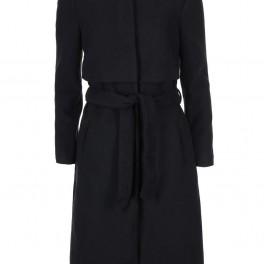Černý kabát bez límečku (náhled)