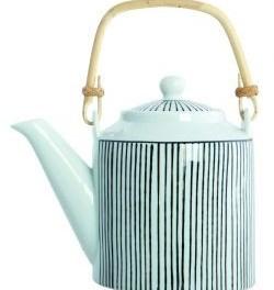 Čajová konvice s proužky (náhled)