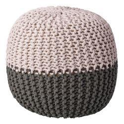Pletený puf (náhled)