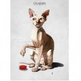 Kovový plakát Cat-Astrophe (náhled)