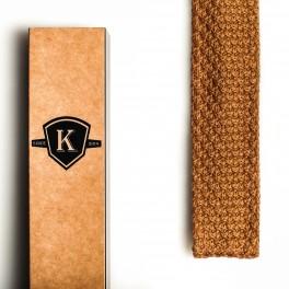 Pletená zlatá kravata (náhled)