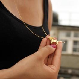 Zlatý origami lev (náhled)