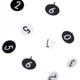 Připínáčky s čísly (náhled)