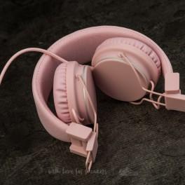 Růžová sluchátka (náhled)