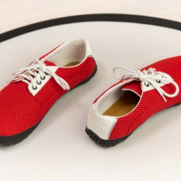 Červené barefoot boty (náhled)