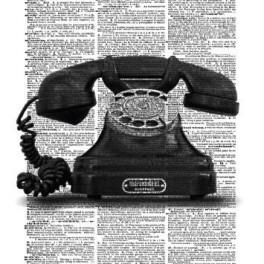 Telefon na zeď (náhled)