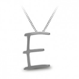 Stříbrný náhrdelník s písmenem (náhled)