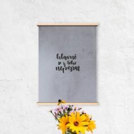 Plakát s mottem (náhled)