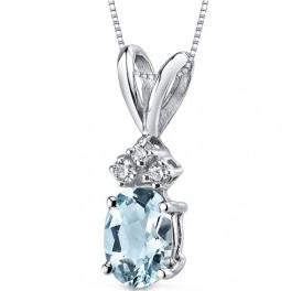 Akvamarínový náhrdelník (náhled)