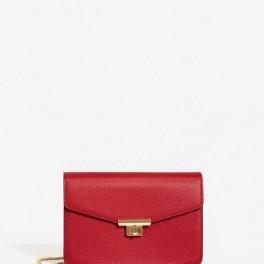 Červená kabelka s řetízkem (náhled)