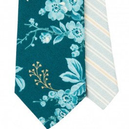 Modrá s květy (náhled)