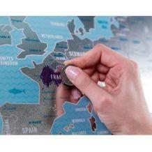 Stírací mapa Evropy (náhled)